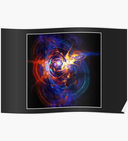 """When Space Met Time"" (6x4 card version) Poster"