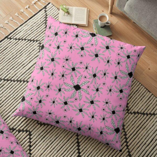 Pink spiral wind catcher pattern Floor Pillow