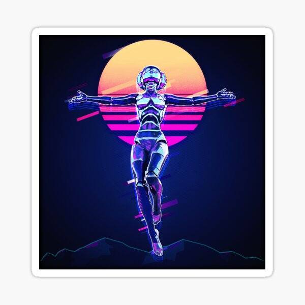 Cyber Messiah Sticker