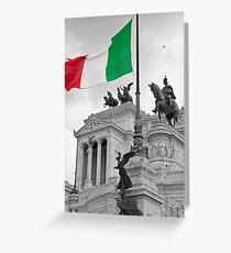 Flag Of Italia Greeting Card
