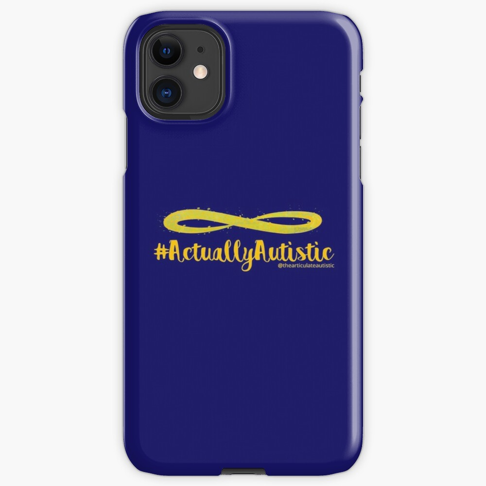 The Articulate Autistic Gold Infinity Logo iPhone Case & Cover