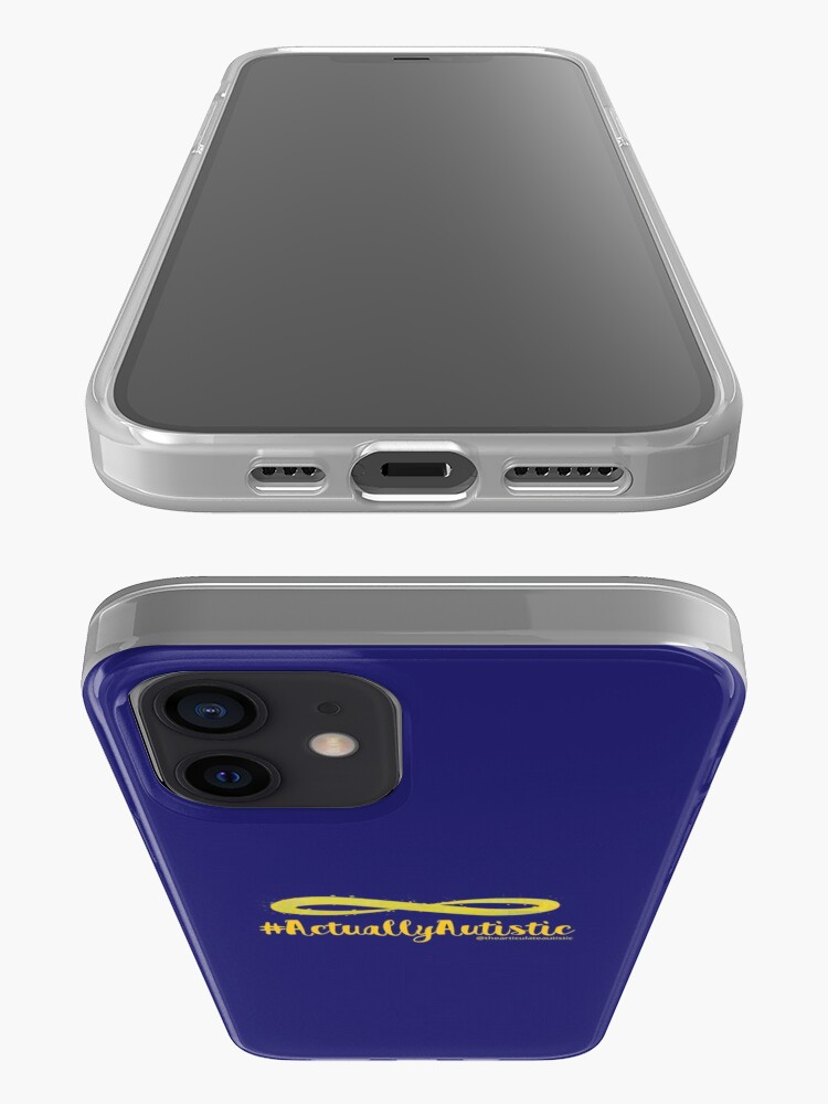 Alternate view of The Articulate Autistic Gold Infinity Logo iPhone Case & Cover
