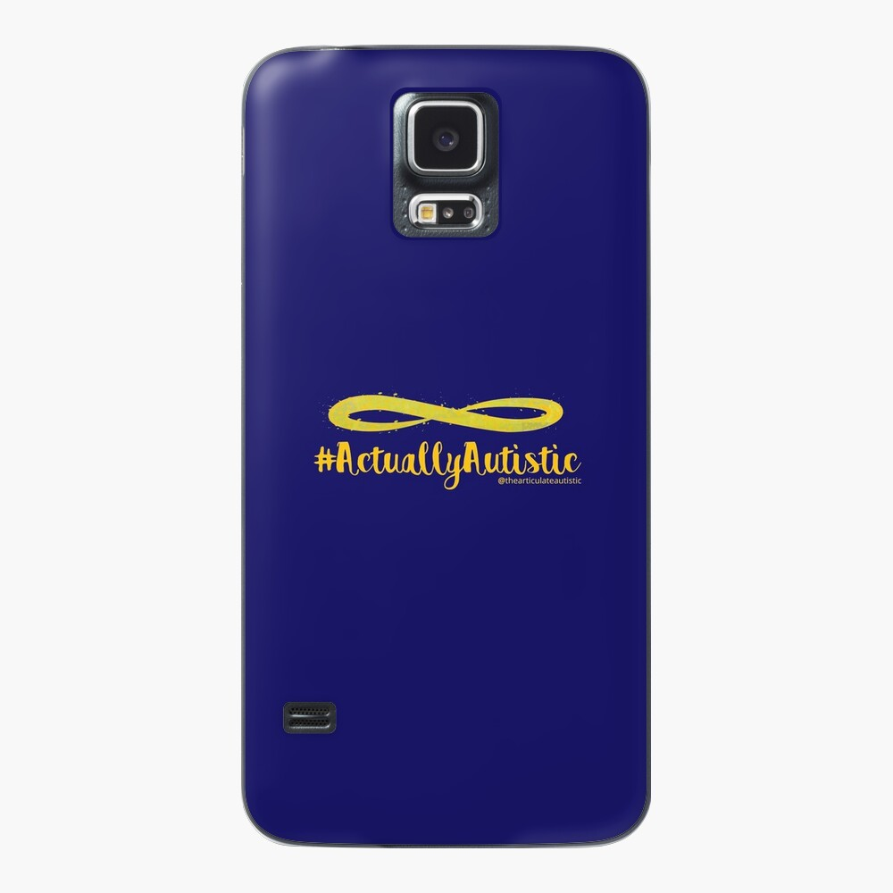 The Articulate Autistic Gold Infinity Logo Case & Skin for Samsung Galaxy