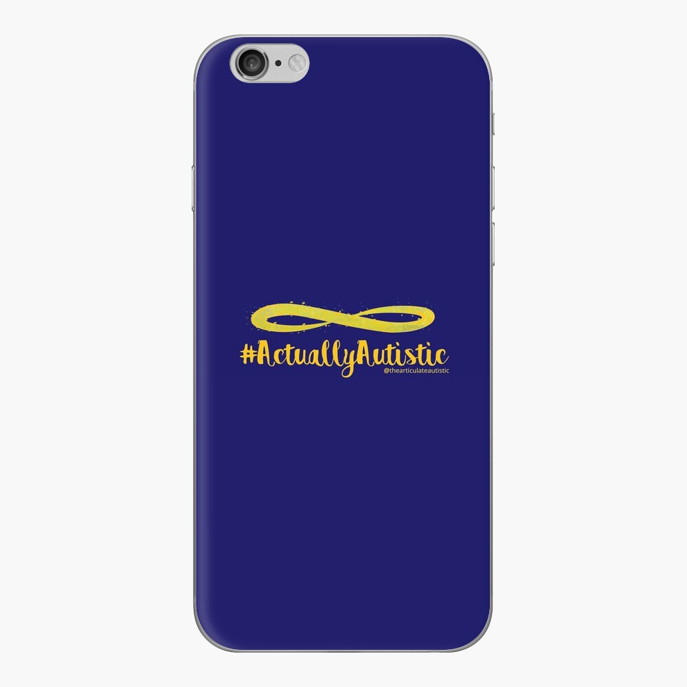 The Articulate Autistic Gold Infinity Logo iPhone Skin