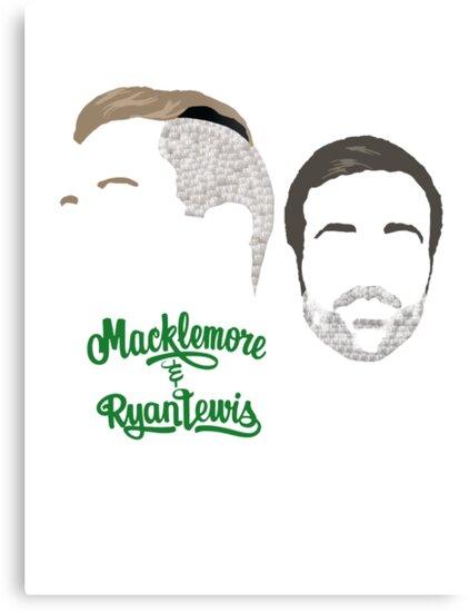 Macklemore & Ryan Lewis - Minimalistic Print by CongressTart