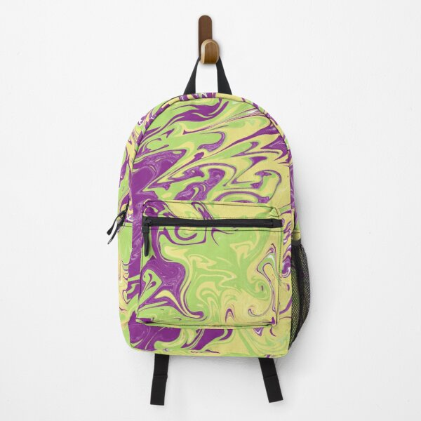 Purple and Yellow Marble Abstract Backpack