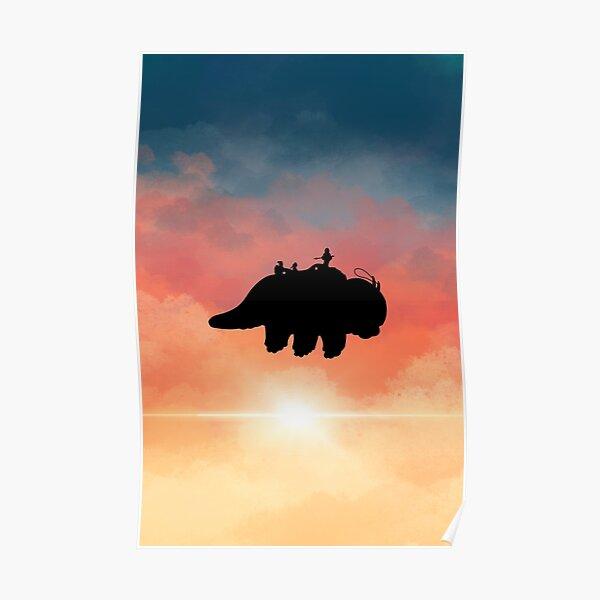Appa flying Sticker Poster