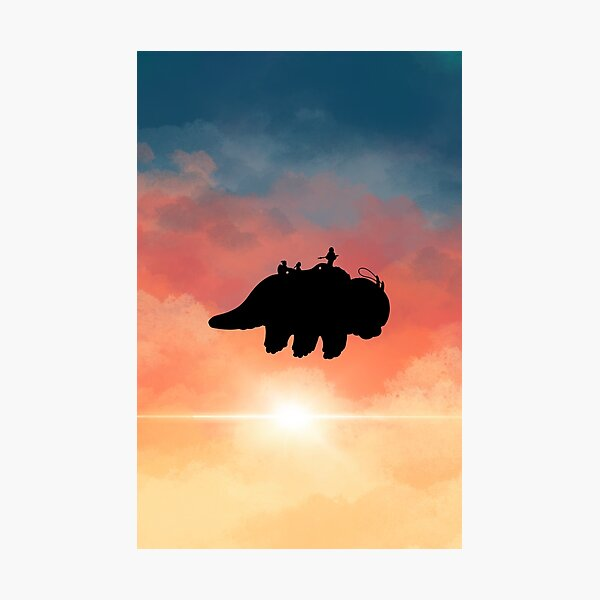 Appa flying Sticker Photographic Print