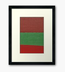Coloured Walls And Car Roof. Framed Print
