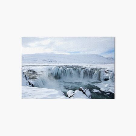 Godafoss Waterfall in Iceland Art Board Print