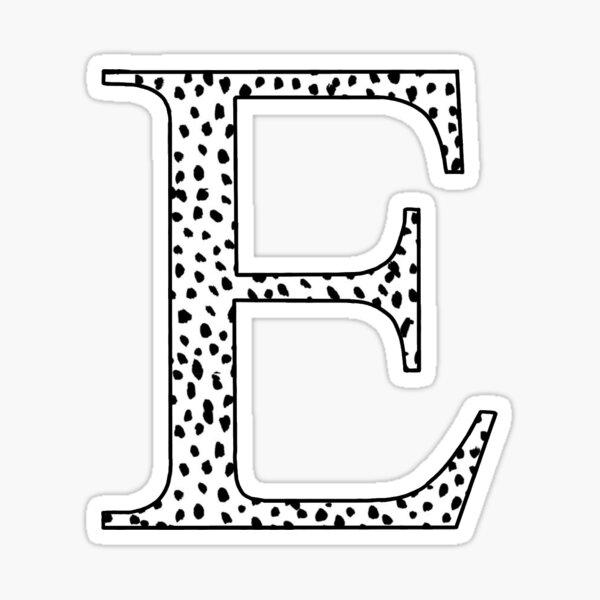 E Initial Sticker