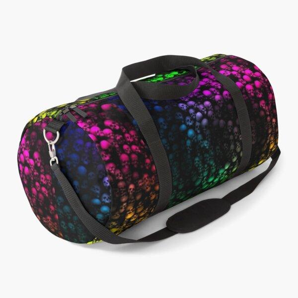 Rainbow Skull Wall Pattern Design Duffle Bag
