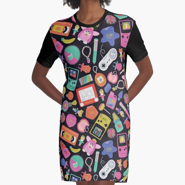 90s Kid Graphic T-Shirt Dress