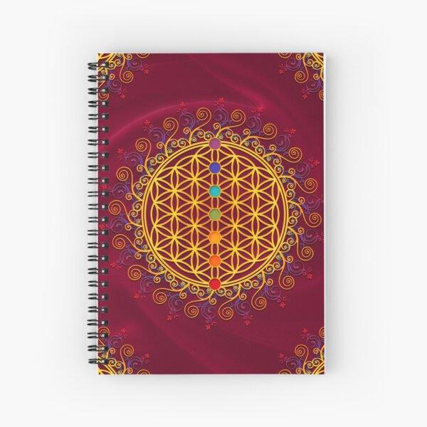 FLOWER OF LIFE, CHAKRAS, SPIRITUALITY, YOGA, ZEN,  Spiral Notebook