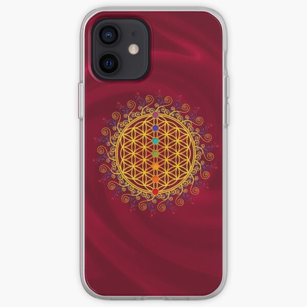 FLOWER OF LIFE, CHAKRAS, SPIRITUALITY, YOGA, ZEN,  iPhone Soft Case