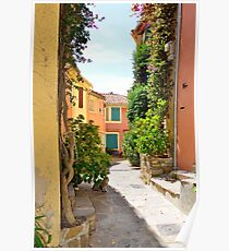 Late Summer in Bormes Les Mimosas, Provence, France Poster