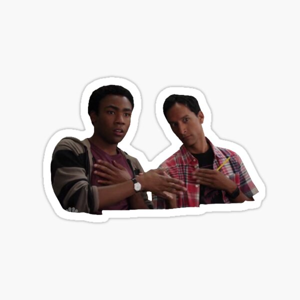 Troy and Abed (Community) Sticker