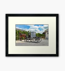 Horse & Buggy Framed Print