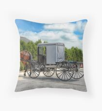 Horse & Buggy Throw Pillow