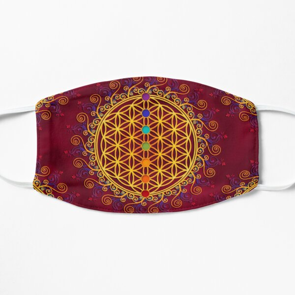 FLOWER OF LIFE, CHAKRAS, SPIRITUALITY, YOGA, ZEN,  Mask