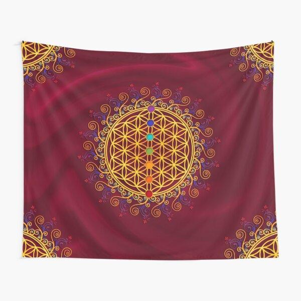 FLOWER OF LIFE, CHAKRAS, SPIRITUALITY, YOGA, ZEN,  Tapestry