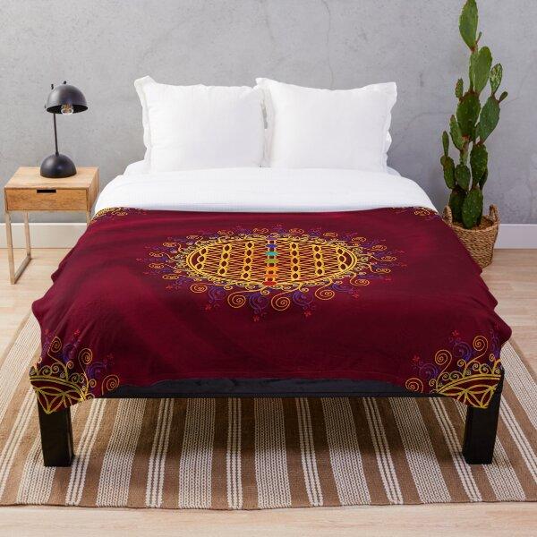 FLOWER OF LIFE, CHAKRAS, SPIRITUALITY, YOGA, ZEN,  Throw Blanket