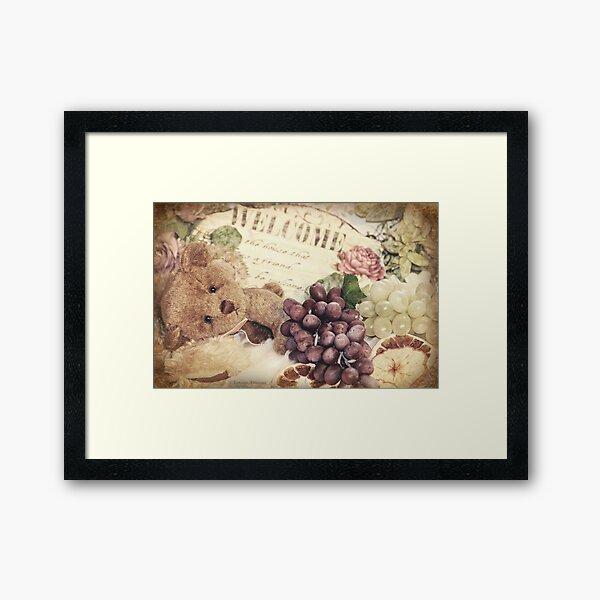 Soft little bear Framed Art Print