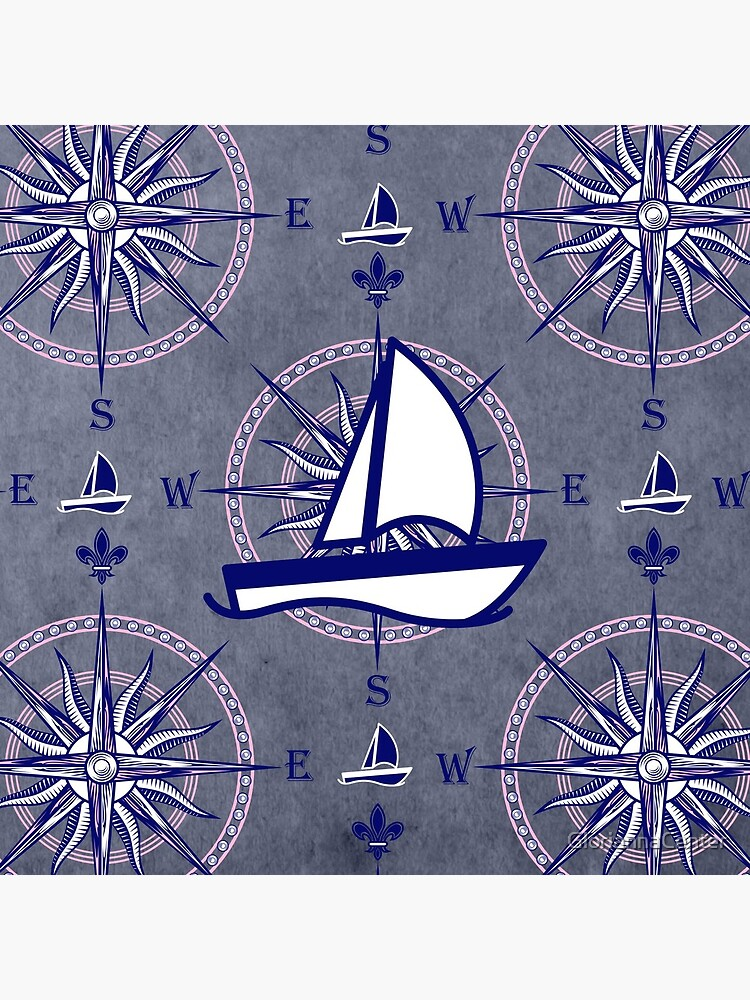 Sailboats and compasses by GloriannaCenter