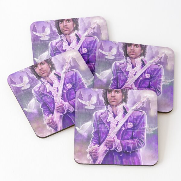 Prince Musician art Coasters (Set of 4)