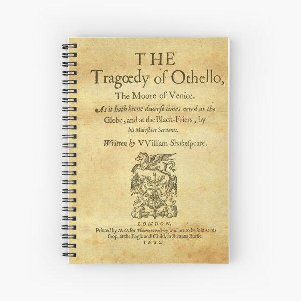 Shakespeare, Othello 1622 Cuaderno de espiral
