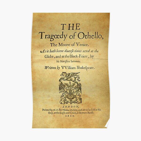 Shakespeare, Othello 1622 Póster
