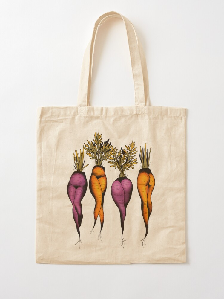 Alternate view of Sexy carrots botanical chart tattoo flash Tote Bag