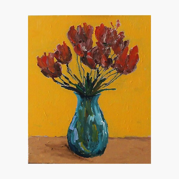 vase and flowers Photographic Print
