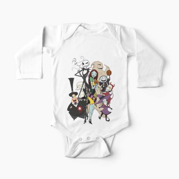 the nightmare before christmas Long Sleeve Baby One-Piece