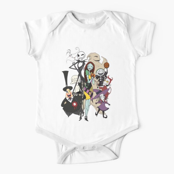 the nightmare before christmas Short Sleeve Baby One-Piece