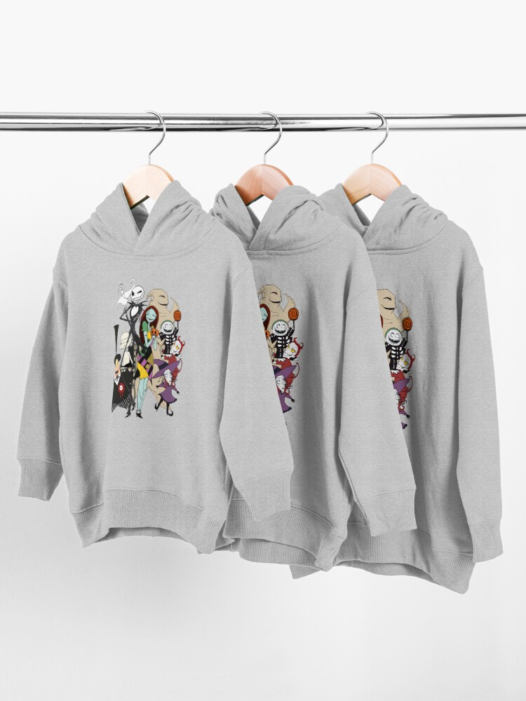 Alternate view of the nightmare before christmas Toddler Pullover Hoodie