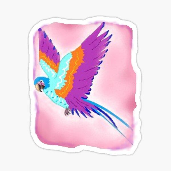 Raspberry parrot Sticker