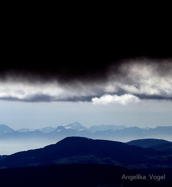 View to the Alps of Switzerland by Angelika  Vogel