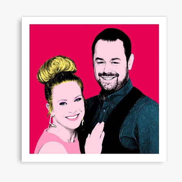 Mick and Linda Carter Pop Art Canvas Print