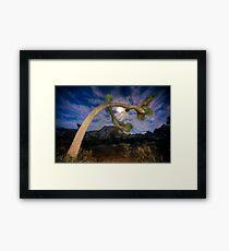Joshua Tree Moon Landscape Framed Print