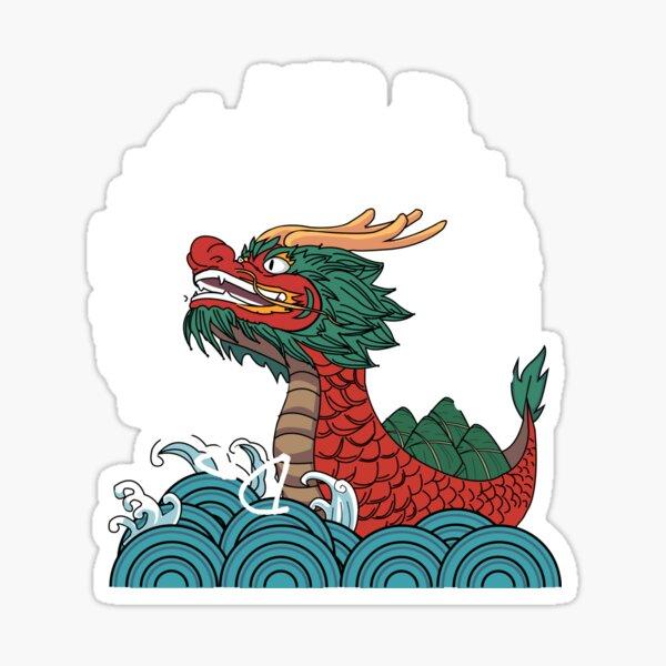 Dragon boats and Dumpling Sticker