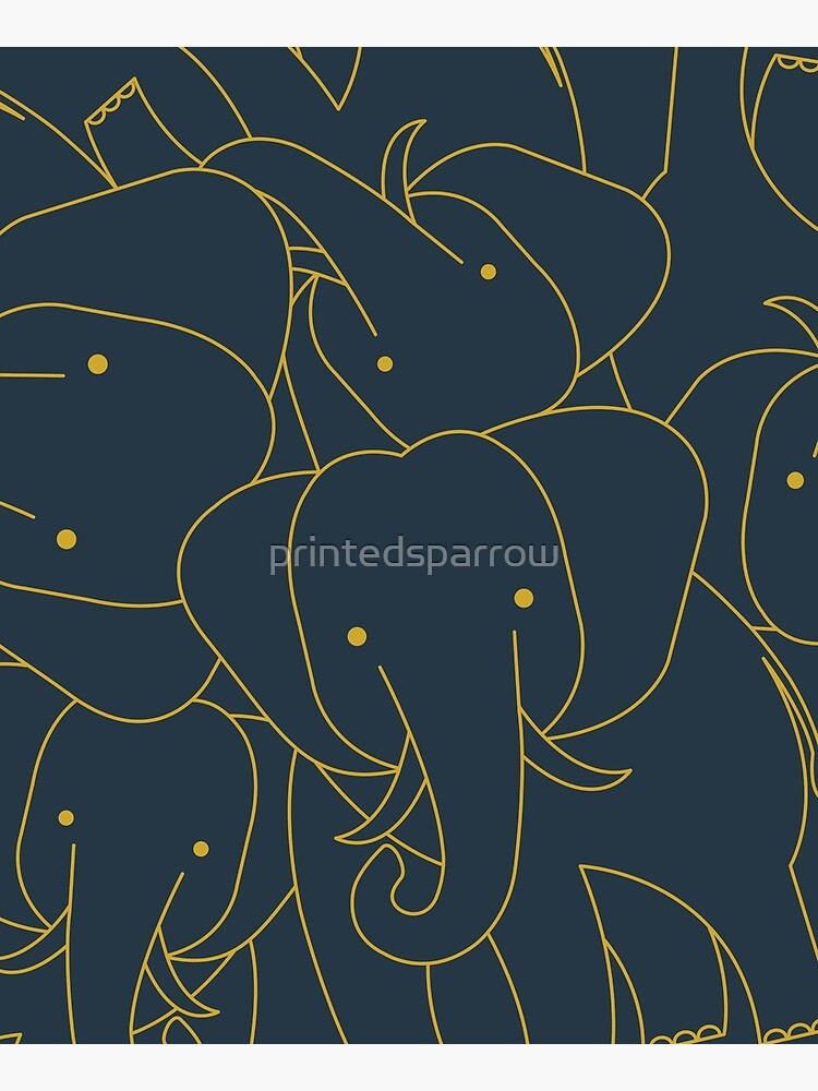 Minimalist Elephant by printedsparrow
