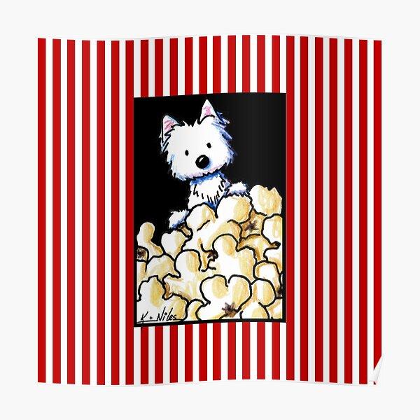 Westie Popcorn Lover Poster