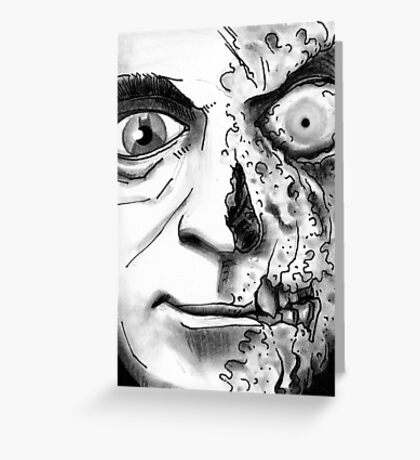 Rogues Gallery - Twoface Greeting Card