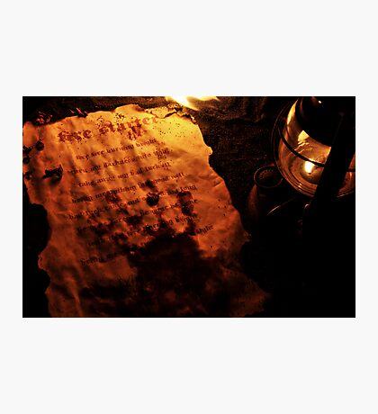 Firestarter (a page from the book of shadows) Photographic Print