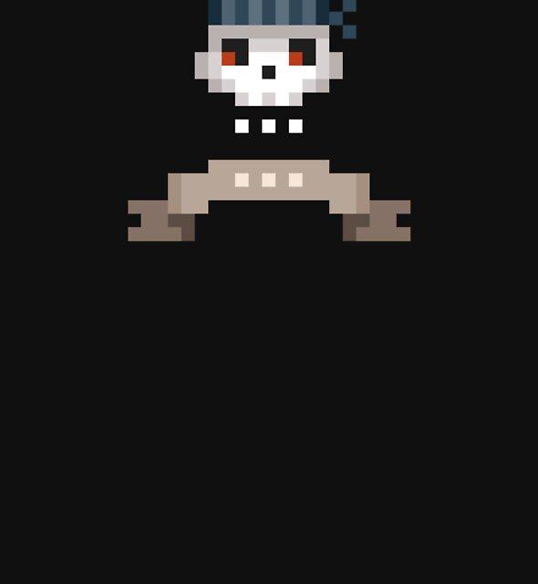 Pixel Pirate Skull by drawsgood