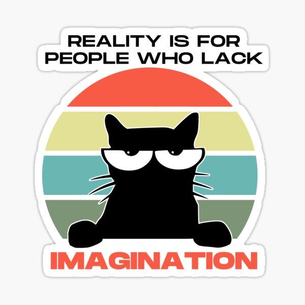 My Neighbour Retro Anime Cat Quote Sticker