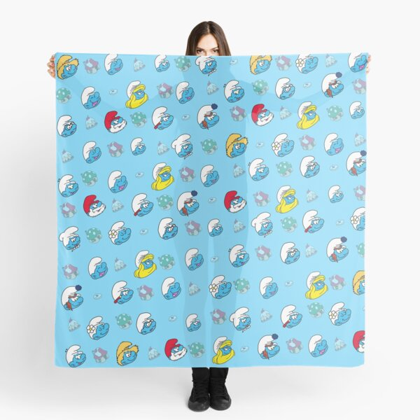 Smurfs Faces Pattern Scarf