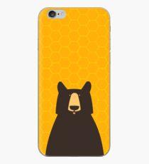 Black Bear Honeycomb iPhone Case