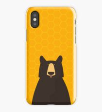 Black Bear Honeycomb iPhone Case/Skin